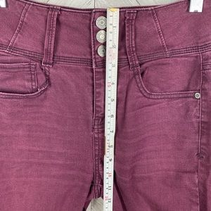Mudd Jeans - Burgundy super high rise jean jegging size 3